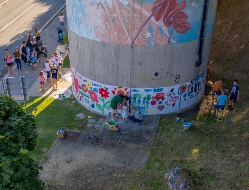 I djeca doprinjela uljepšavanju vodotornja