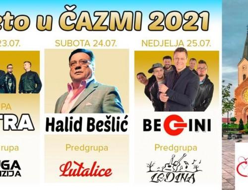 Dani Grada Čazme – Vatra, Halid Bešlić, Begini
