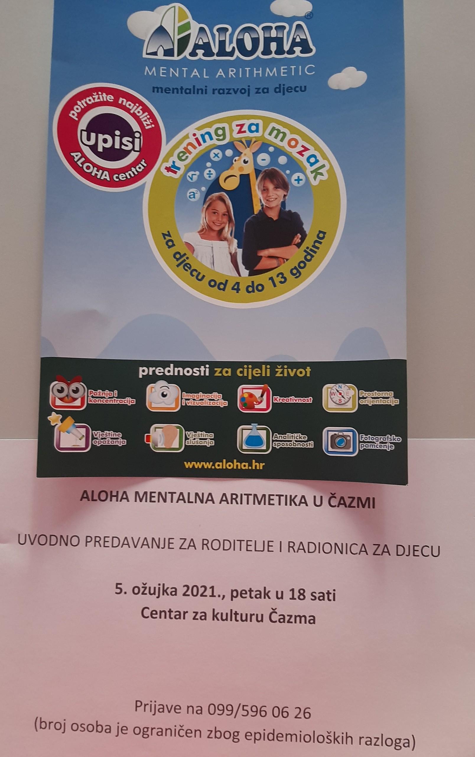 Program mentalne aritmetike za roditelje i radionica za djecu